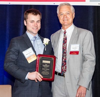 KCBA President Andrew Maron and 2018 Winner Peter Talevich