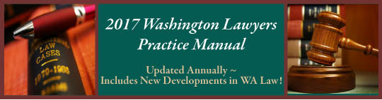 Washington Lawyers Practice Manual